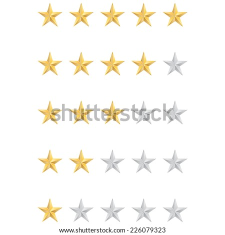 Vector illustration of star rating - stock vector