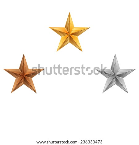 Vector illustration of 3 stars - stock vector