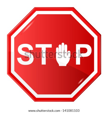 Vector illustration of Stop - stock vector