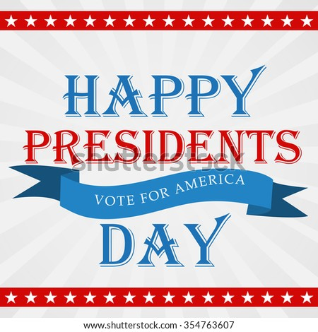 Vector illustration of stylish text for Happy Presidents Day. - stock vector