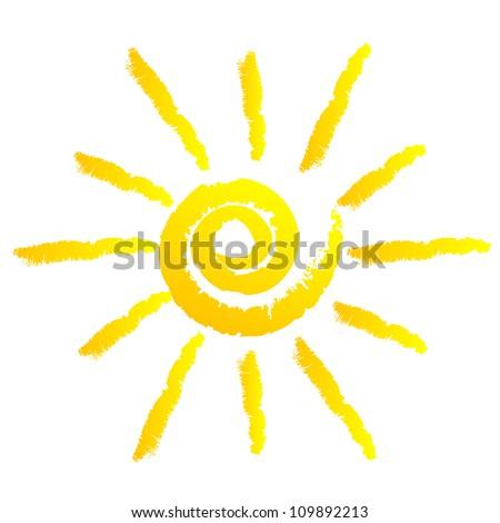 Vector illustration of sun - stock vector