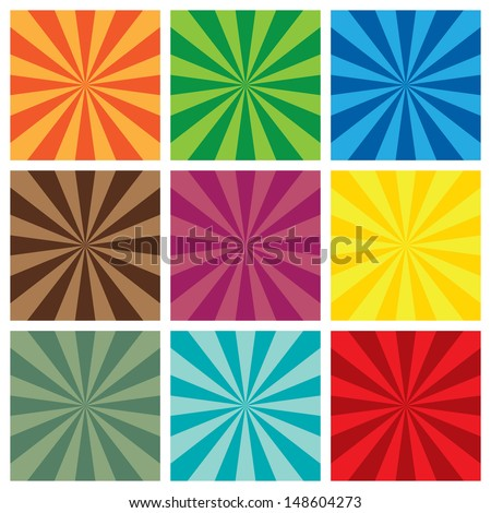 Vector illustration of Sun burst  retro Pattern background. - stock vector