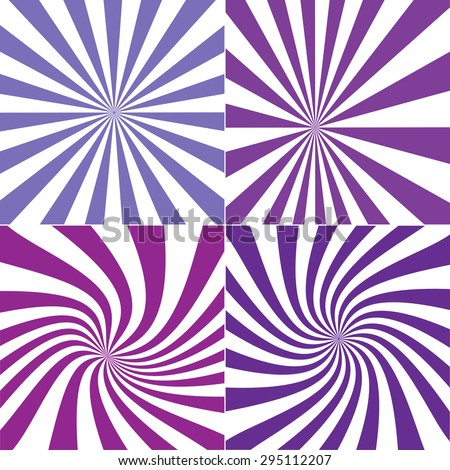 Vector illustration of Sun burst retro Pattern background. Violet color  - stock vector
