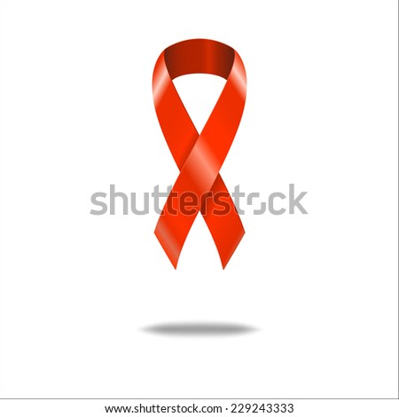 Vector Illustration of Symbol AIDS for Design, Website, Background Banner. REd Ribbon Sign of Immune Syndrome Isolated Template - stock vector