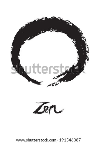 Vector illustration of symbolic circle for Zen, Enso. - stock vector