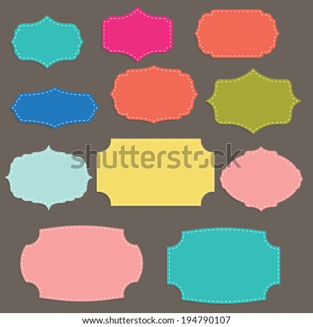 Vector illustration of templates of modern banners and labels - stock vector