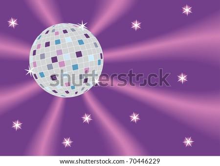 Vector illustration of the disco ball - stock vector