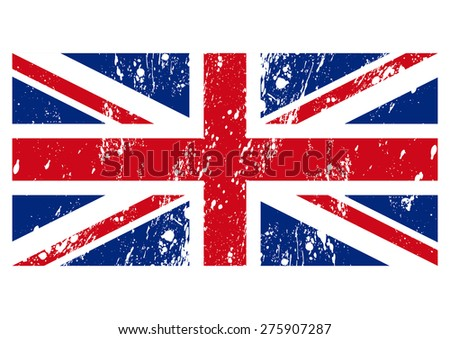 Vector illustration of the flag of Great Britain. - stock vector