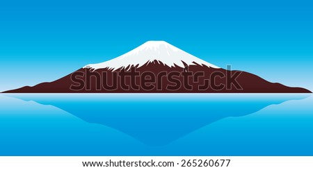 vector illustration of the Fuji Mountain - stock vector