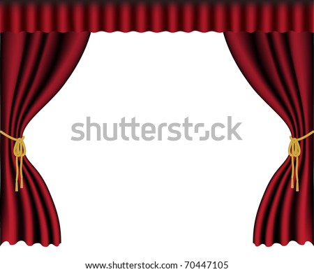 vector illustration of the stage curtain - stock vector