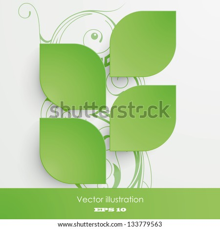 Vector illustration of the symbolic images of leaves - stock vector