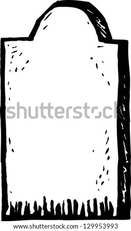 Vector illustration of tombstone - stock vector