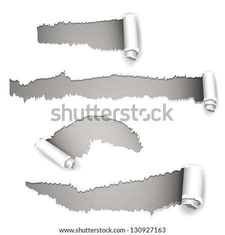 Vector Illustration of Torn Paper - stock vector