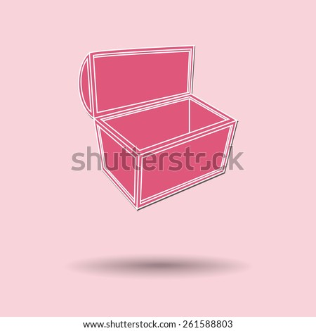 Vector illustration of  Treasure chest color background. - stock vector