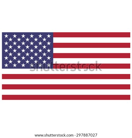 Vector illustration of usa flag. Rectangular national flag of usa. Flag of United States of America. Independence day - stock vector