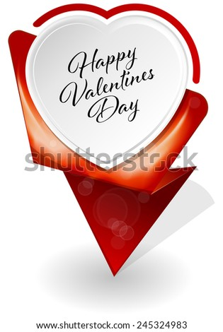 Vector illustration of Valentines Day infographic banners - stock vector
