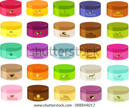 Vector illustration of various kinds of lotions. - stock vector