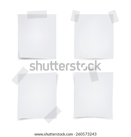 Vector Illustration of Various Note Papers - stock vector