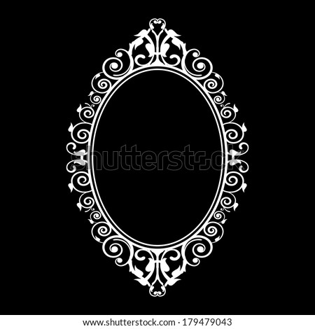 Vector illustration of vintage frame - stock vector