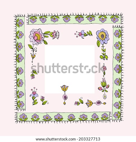 Vector illustration of vintage stylized floral frame - stock vector