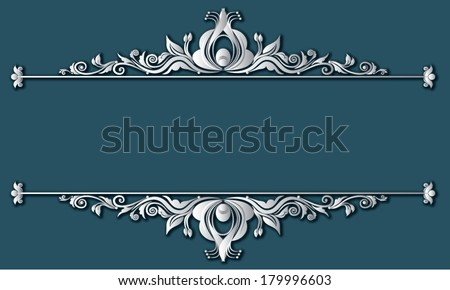 Vector illustration of vintage Victorian frames and boarders - stock vector
