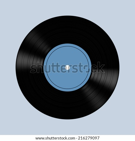 Vector illustration of vinyl record. Isolated on gray background. EPS 10. - stock vector