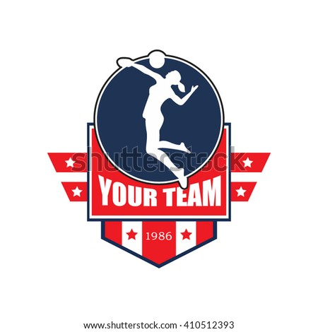 Vector illustration of volley ball crests and logo academy emblem banner badge tournament competition designs - stock vector