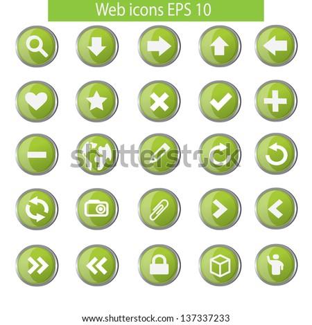 Vector illustration of web icon set - stock vector