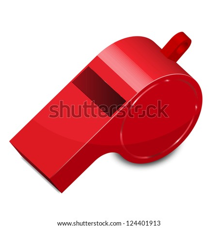 Vector illustration of whistle - stock vector