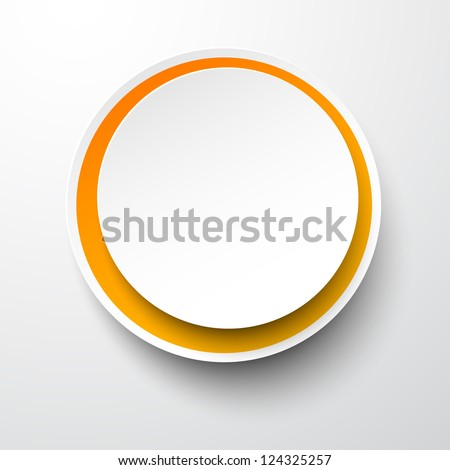 Vector illustration of white paper round bubble. Eps10. - stock vector