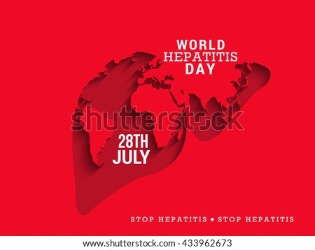 Vector illustration of World Hepatitis Day. - stock vector