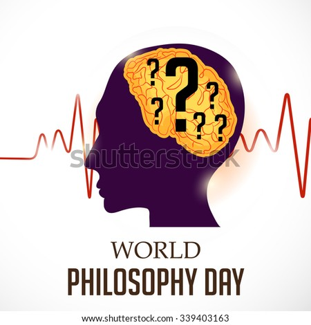 Vector illustration of World Philosophy Day Background. - stock vector