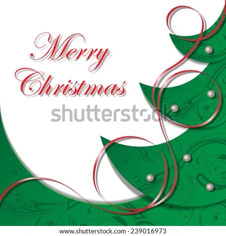 Vector illustration on a Christmas theme - stock vector