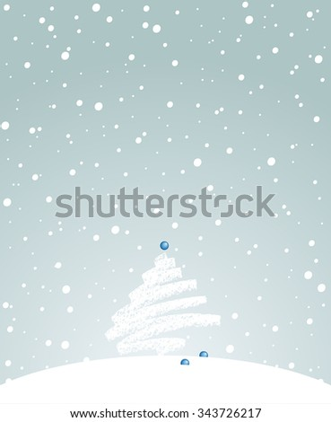 Vector illustration on the new year's theme. Can be easily colored and used in your design. - stock vector