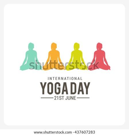 Vector illustration,poster,flyer or banner of international yoga day. - stock vector