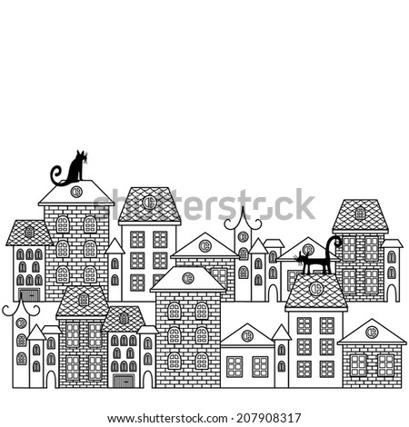 Black And White Cartoon Buildings Pictures to Pin on ...