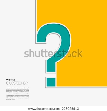 Vector illustration. Question mark icon in flat design. - stock vector