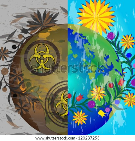 Vector illustration. S.O.S. Earth - stock vector