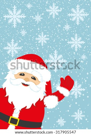 Vector illustration. Santa Claus background with space for text. - stock vector