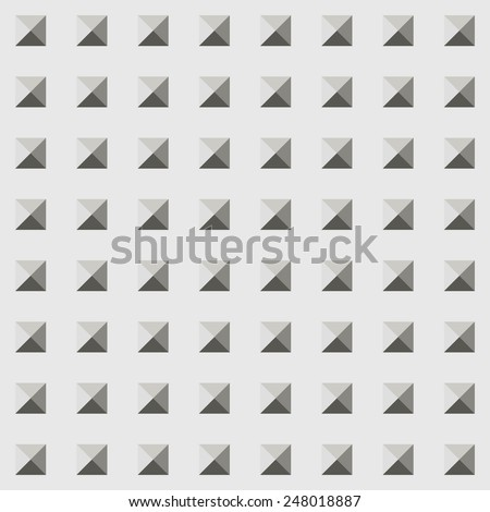 Vector illustration seamless pattern with black and white square. Geometric texture. - stock vector