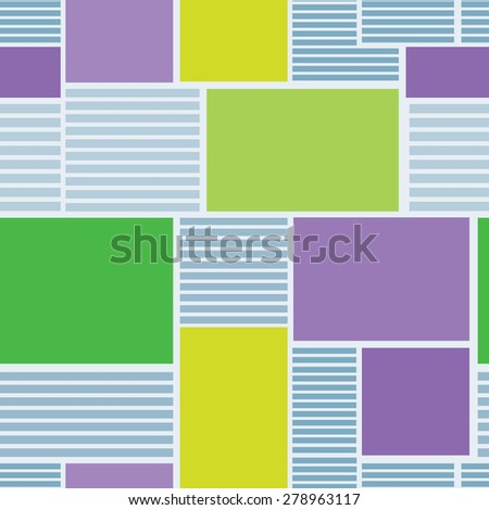 Vector illustration seamless texture newspaper. - stock vector