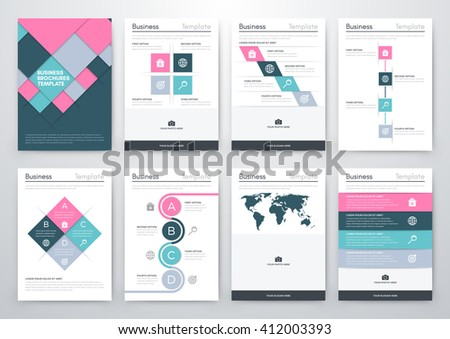 Vector illustration set infographics. Template for brochure, business, web design - stock vector