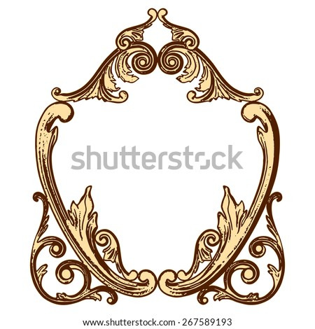 Vector illustration set of an ancient gold ornament on a white background - stock vector