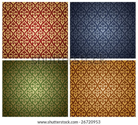 Vector illustration. Set of the wallpaper backgrounds. - stock vector