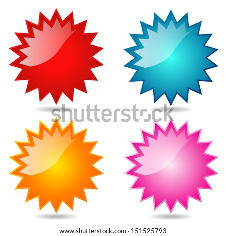 Vector illustration shiny and glossy icon spherical radial  - stock vector