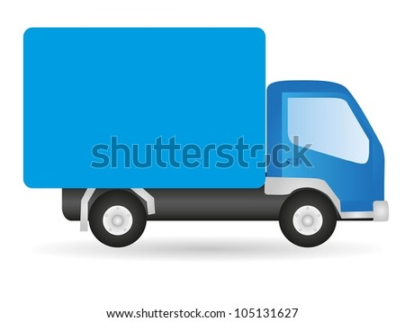 Vector illustration truck, isolated on white background - stock vector