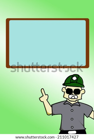 Vector illustration - Under Construction Sign: worker warning for safety. - stock vector