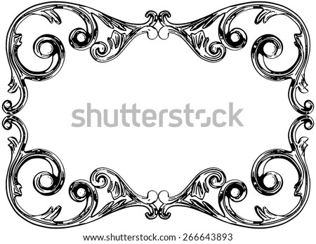 Vector illustration vintage ornament on a white background - stock vector