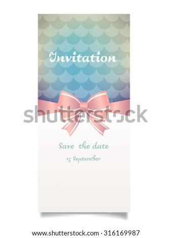 Vector illustration. Wedding invitation card. Background can be used for wallpaper, web page background, surface textures... - stock vector