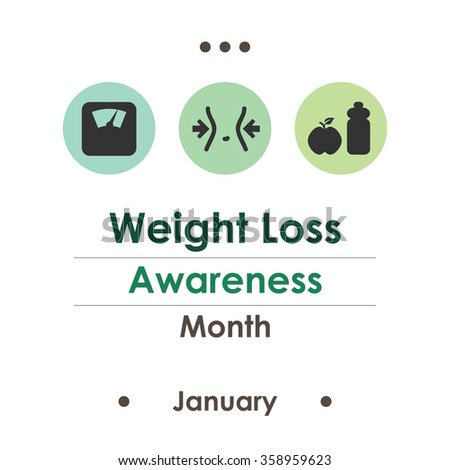 vector illustration / weight loss awareness month - stock vector